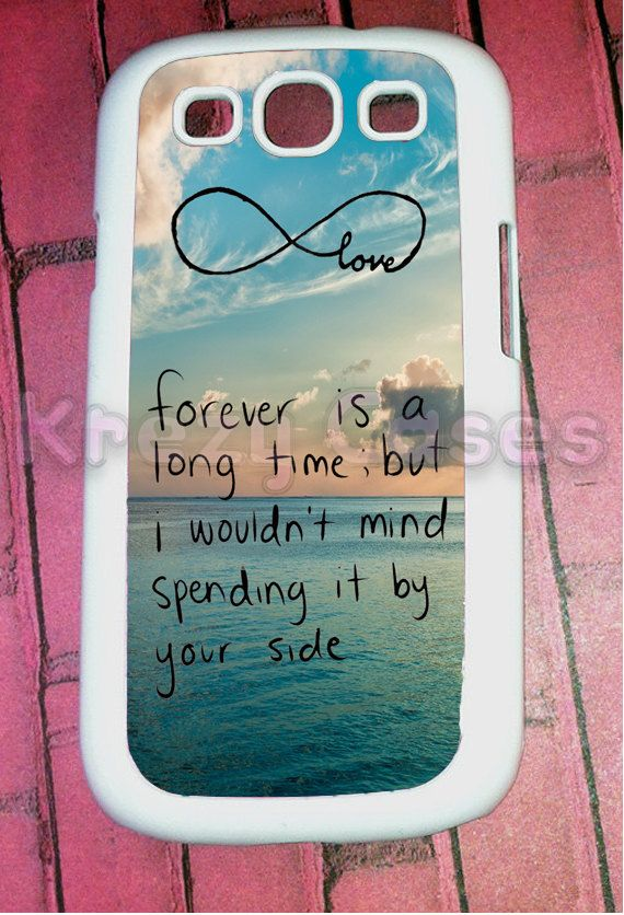 Samsung Galaxy S3 Case, Cute Forever love - infinity   Samsung Galaxy S3 Cover, Samsung Galaxy S3 Cases, Galaxy s3 case. $15.95, via Etsy. Dawhhhhhh