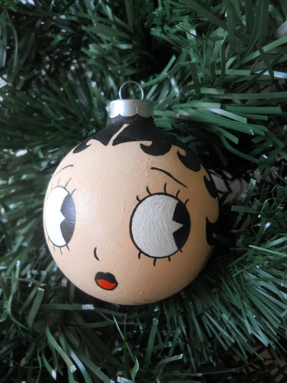 Reserved for Sarah Betty Boop Hand Painted Holiday by GingerPots, $16.00