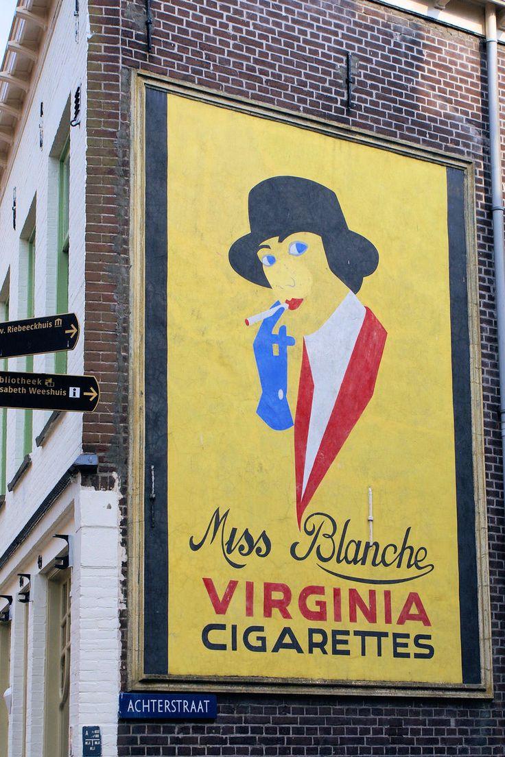 07 153 culemborg muurschildering reclame miss blanche sigaretten 2007 - Foto uit Culemborg
