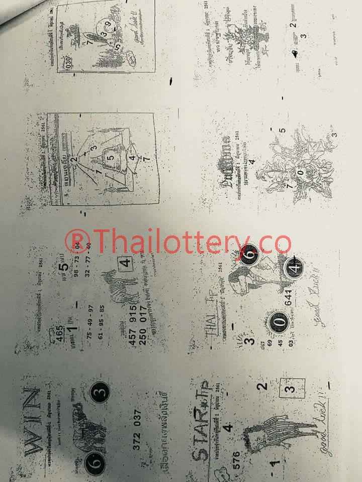 Check this Thailand Lottery Paper Tips All Pages/Complete and Zoomed Version of 01 FEB 2017 Lottery Draw. These Tips are very important to consider for the win and earn. All Pages of this Paper is clear and easy to understand created by our Team.