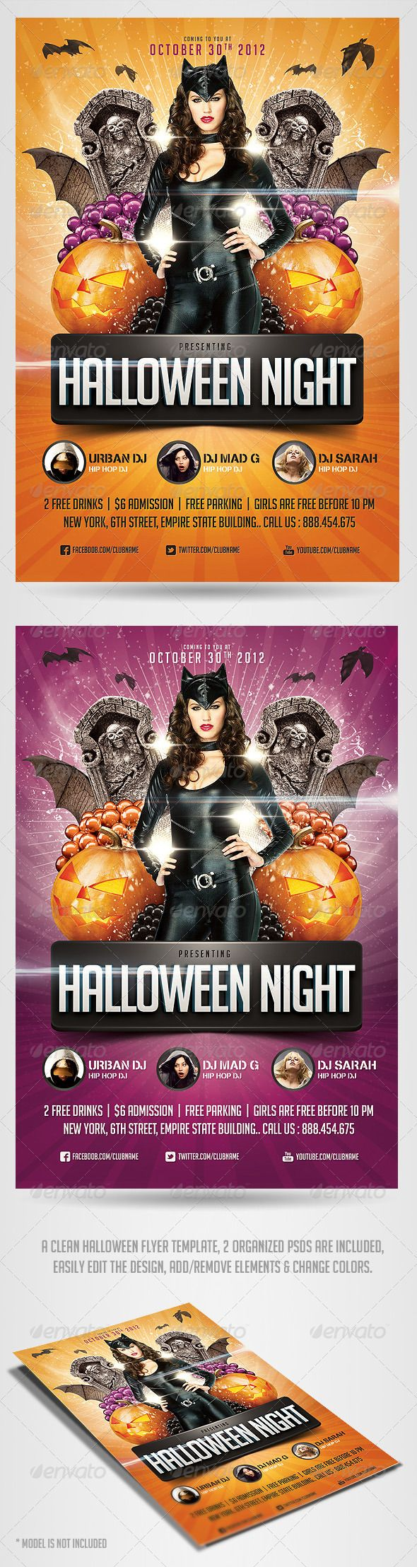 17 best images about my flyer designs cinco de o halloween night flyer template