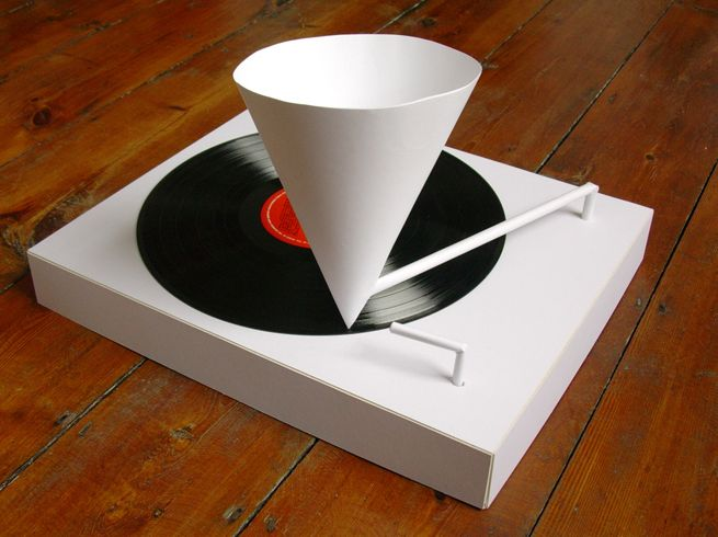 Paper turntable - simon elvis