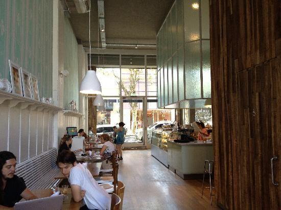 Nucha - Cafe Palermo Soho - Huge windows. High ceilings. Beautiful dessert bar. Lovely place.
