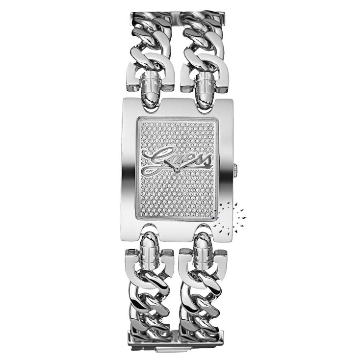 Guess Crystal Ladies Stainless Steel Bracelet  145€  http://www.oroloi.gr/product_info.php?products_id=26026