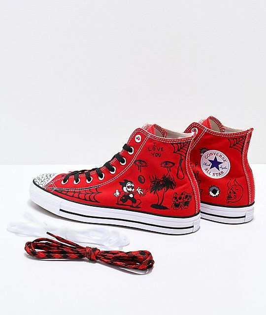 eef60b7ec1 Converse CTAS Pro Hi Sean Pablo Red Skate Shoes in 2019