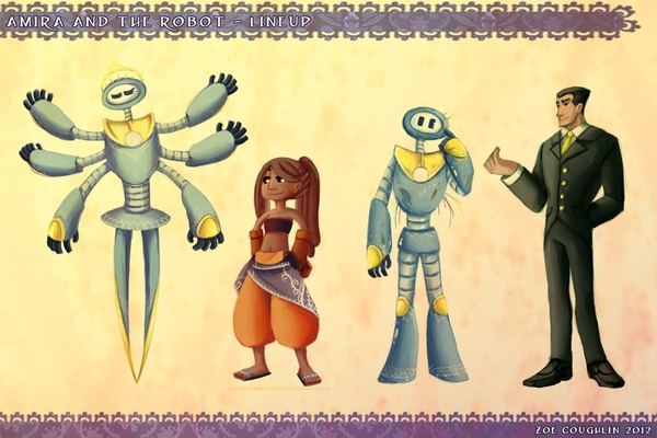Amira And The Robot by Zoe Coughlin, via Behance