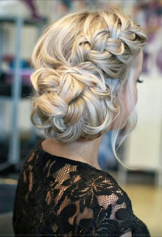 Bridesmaids hair up
