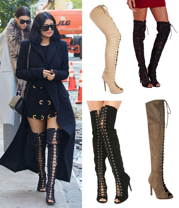 Kylie Jenner's Lace-Up, Over-The-Knee Boots: SHOP 5 Ways To Rock The Sexy Style