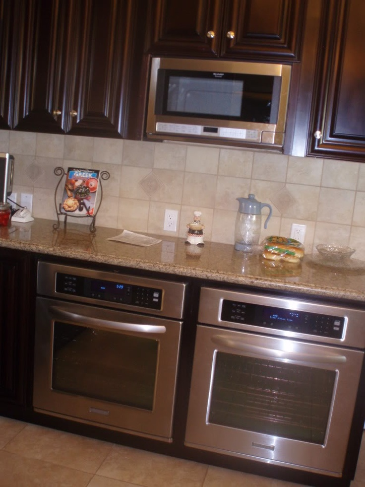 Kitchen With Two Ovens ~ Best images about double ovens on pinterest stove