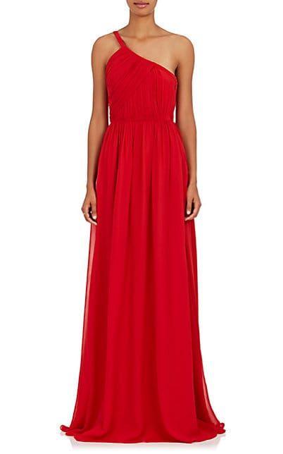 Lanvin Silk Georgette One Shoulder Gown Dresses 505400638