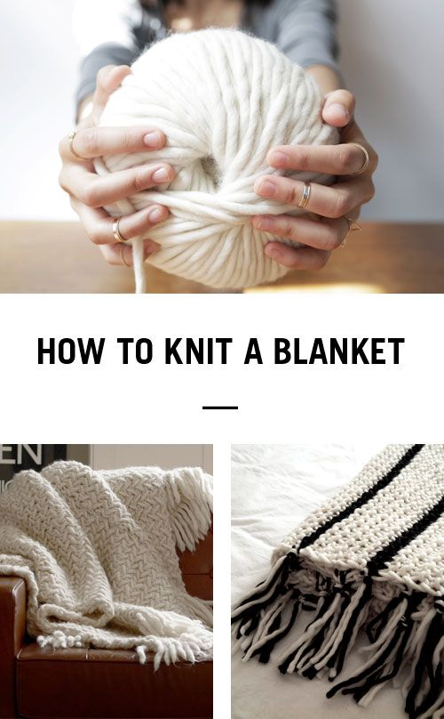 Learn how to knit a blanket in no time using Wool and the Gang's Crazy Sexy Wool and 25mm knitting needles ༺✿Teresa Restegui http://www.pinterest.com/teretegui/✿༻