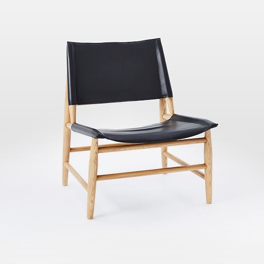 $559 - Leather Sling Chair   west elm