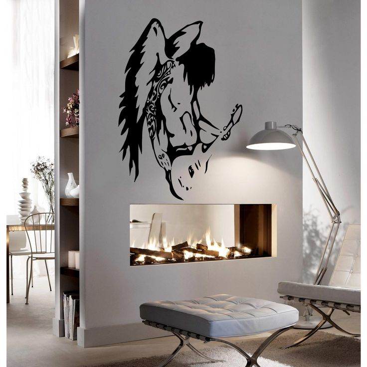 A man with wings playing guitar Wall Art Sticker Decal