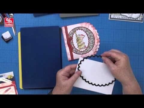 ▶ BVD 13 - Kerstkaarten stempelen embossing - YouTube