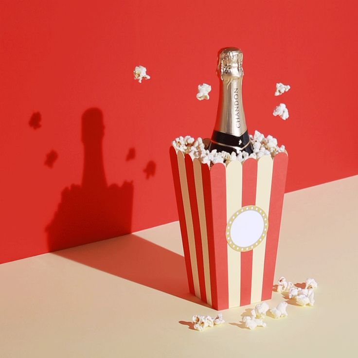 // ADVERTISING // Gif by @davinamuller for Chadon #art #gif #chandon #cheers #champagne #popcorn #alcohol