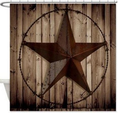 Western Texas Lone Star Cowboy Shower Curtain