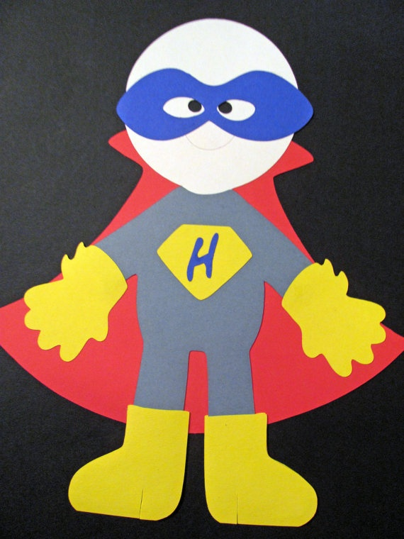 Self Standing Super Hero Decoration by ElegantPartyPlans on Etsy, $15.95
