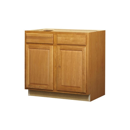 lowes kitchen classics 36 in portland oak door and drawer base cabinet kitchen dining. Black Bedroom Furniture Sets. Home Design Ideas