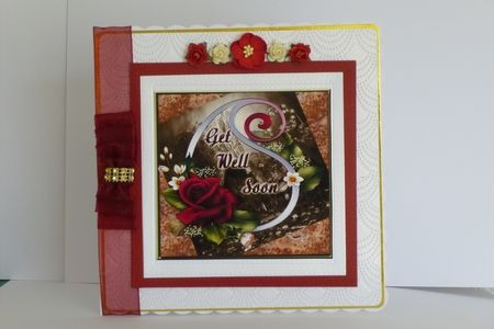 Beautiful Get Well Soon with Roses on Craftsuprint - View Now!