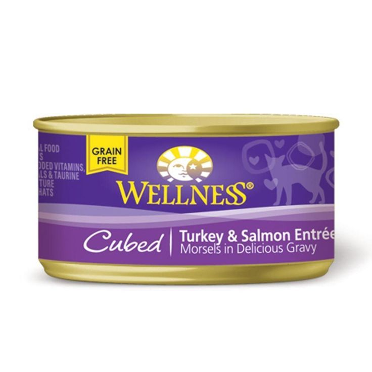 Wellness Natural Cubed Grain-Free Canned Cat Food Variety Pack - 3 Oz. Each - Tuna, Turkey and Salmon, and Salmon Dinner (12 Pack Bundle) *** You can find out more details at the link of the image. (This is an affiliate link) #CatFood #wellnesscatfood