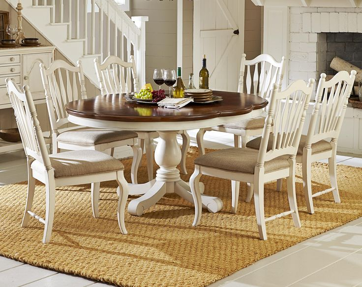 Haven 7 Piece Dining Set with Adjustable Table and Sheaf Back Side Chairs by Legacy Classic | Wolf Furniture