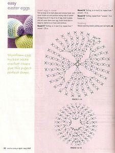 crocheted egg pattern
