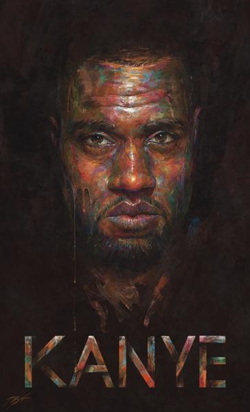 Portrait Painting of Kanye West by Sam Spratt