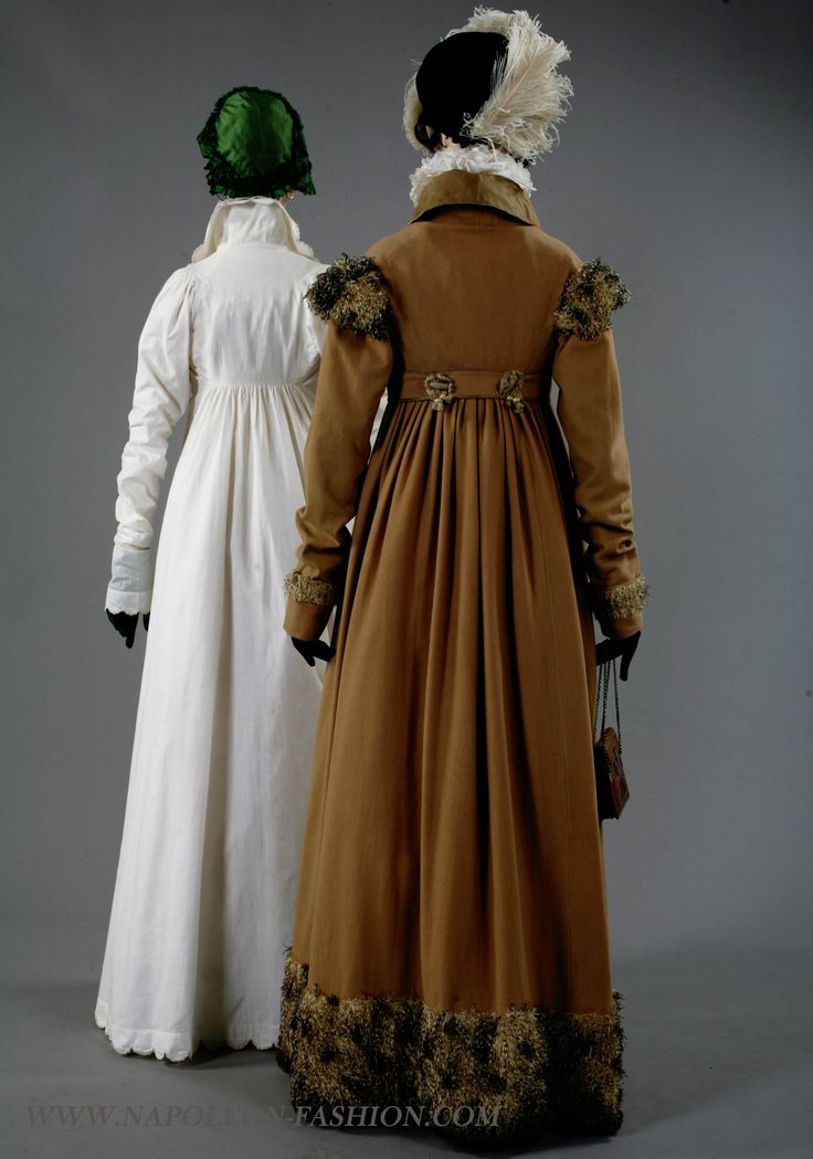 """""""Alexandrine"""", """"Aglae""""..From the exhibition """"Napoleon and the Empire of Fashion"""". #Regency #1800s #fashion #coat #hat"""