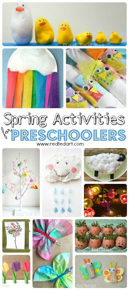 Easy Spring Crafts for Preschoolers and Toddlers - 24+ wonderful Spring Activities for 2 and 3yrs olds. Simple gorgeous crafts and activities that the kids will LOVE!