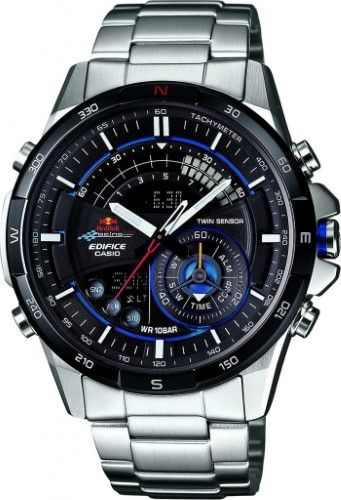 Casio Edifice ERA-200RB-1AER Red Bull Limited Edition watch, Men's, Black