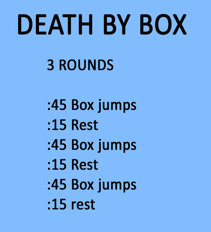 Death By Box Jumps
