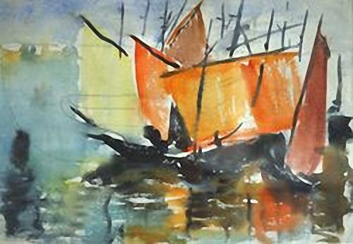 Coloured sails. 1930s  Vladimir Timirev