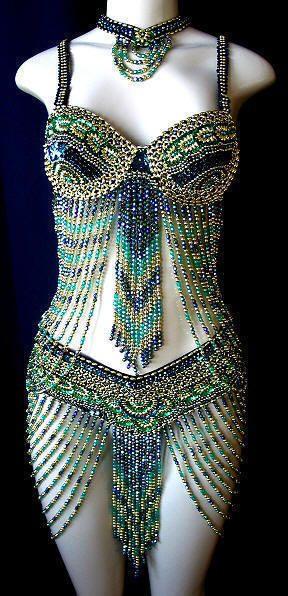 bellydance costume, costume de perles danse orientale
