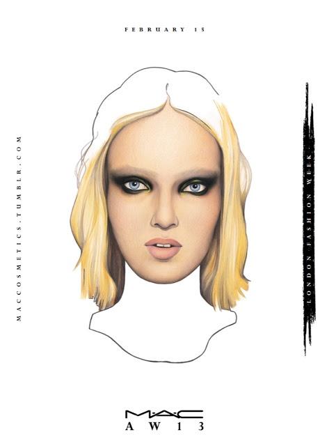 MAC London AW'13 Daily Face Chart For February 15th: Braganza, Sass & Bide |The Shades Of U Makeup