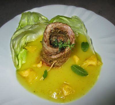 FORNELLI IN FIAMME: ESCALOPES WITH ANANAS AND MINT SAUCE - Scaloppine con salsa di ananas e menta