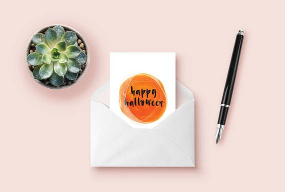 This minimalist Halloween watercolor card is perfect for spreading Halloween fun around the office or for friends and family. Its easy to print at home and can be printed as many times as you need it. Spread the seasonal joy around to everyone around you!