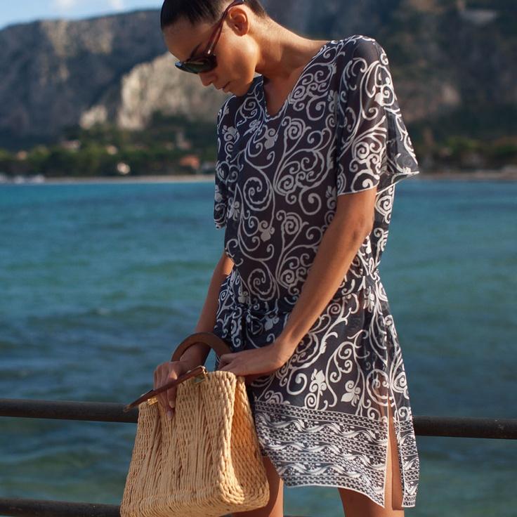 #Beachwear Philippe Matignon Caftano Foulard   49,90€   #goldenpoint Shop Online