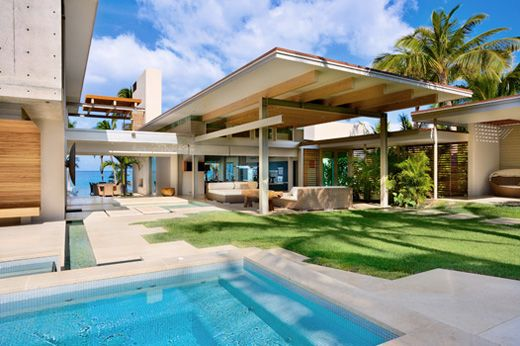 tropical house.