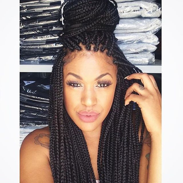 Swell 102 Best Images About Box Braids On Pinterest Jumbo Braids Box Hairstyles For Women Draintrainus