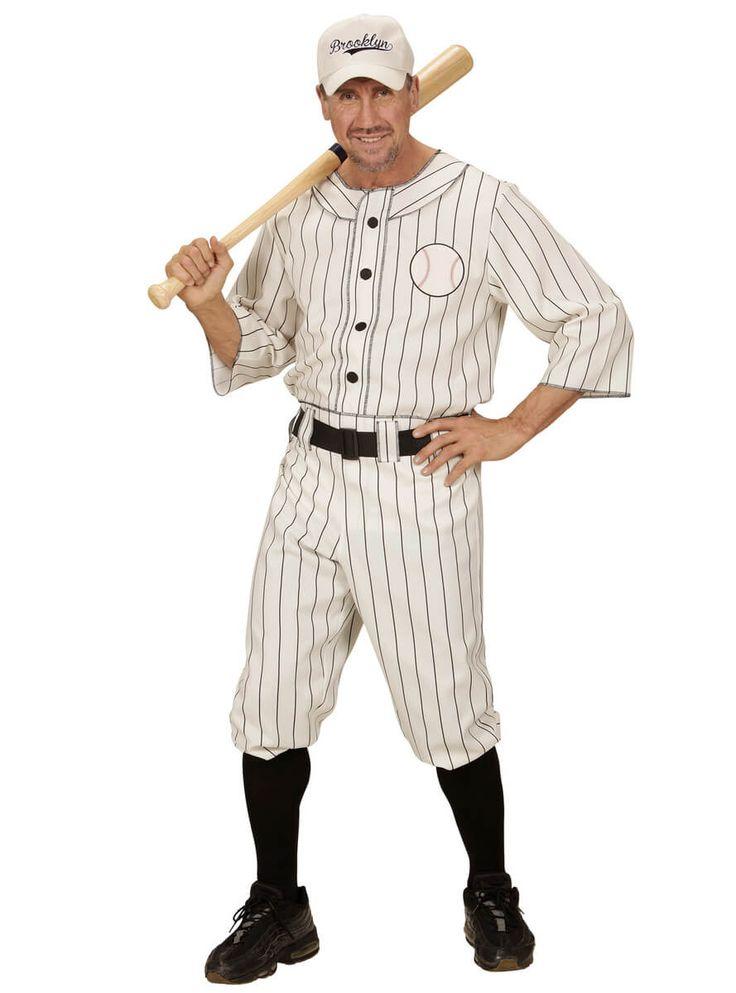 Disfraz de jugador de béisbol para hombre talla grande