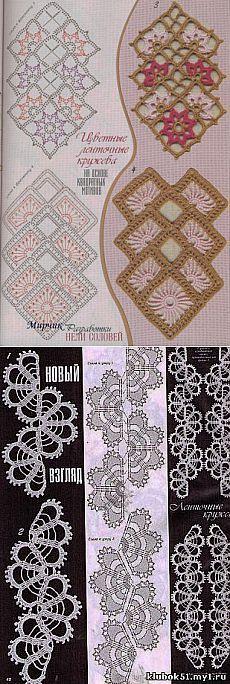 Энциклопедия вязания - Ленточное кружево