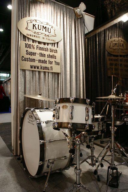 """Kumu 28"""" kick drum set Kumu uses very thin birch shells."""