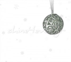 """A plastic christmas ball ornament, """"coated"""" in silver!!! A """"shiny"""" ornament for your christmas tree, by shne4ever.gr!!! A sparkling touch for your home!!"""