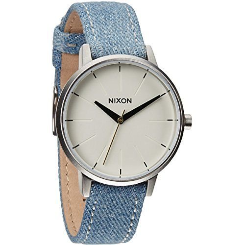 Now available Nixon Women's Kensington Stainless Steel Watch with Leather Band
