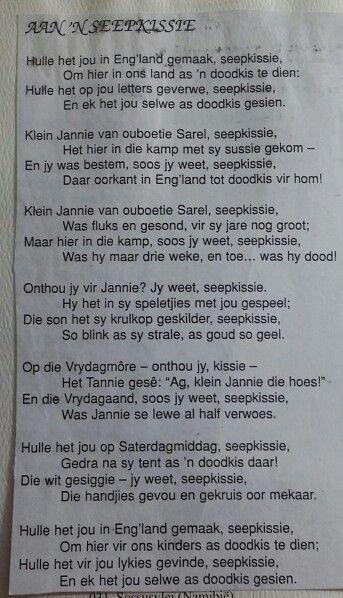 """""""Aan n SEEPKISSIE"""" ~ Die Boerevolk ~ My Volk"""