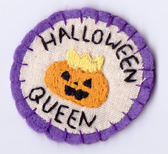 Halloween Queen Patch by Hanecdote on Etsy, £7.00