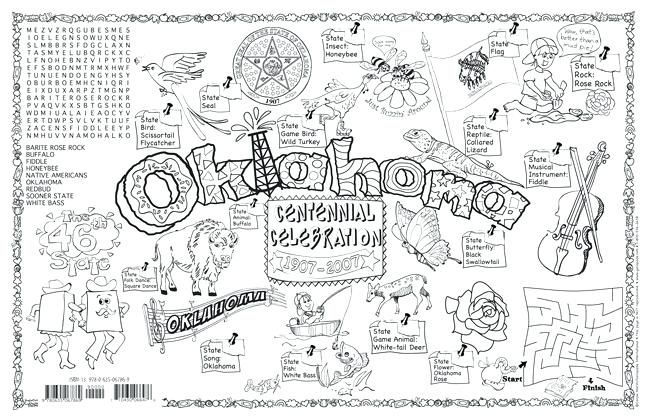 Oklahoma State Flower Coloring Page State Symbols Coloring Pages International Symbols Facts Pack Of Free Cool Color Sketch Book How To Draw Hands Sketch Notes