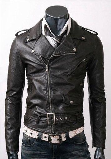 Handmade men's belted Black brando biker Jacket.