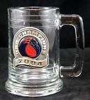 2004 NBA Champions Detroit Pistons Pro Basketball Heavy Glass Stein Mug w Pewter