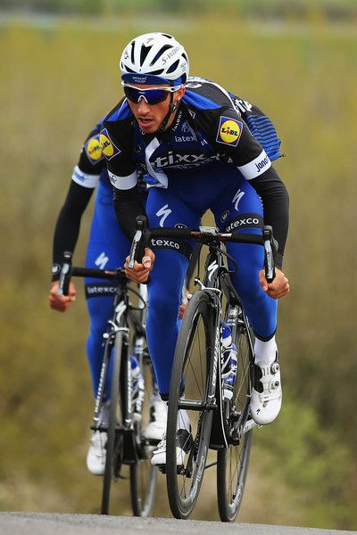 Julian Alaphilippe rides up the climb of La Redoute during training for LBL 2016